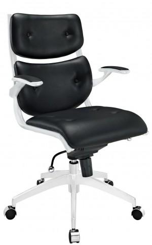 Push Black Midback Office Chair