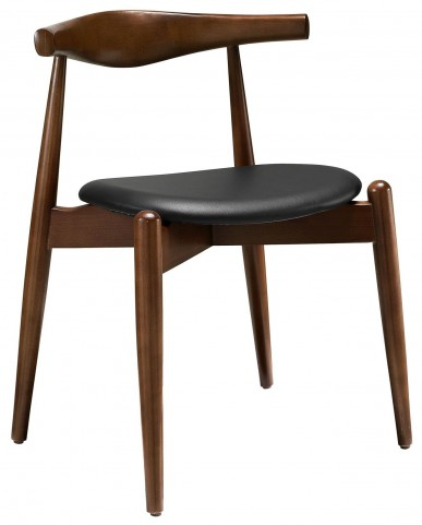 Stalwart Dark Walnut and Black Dining Side Chair