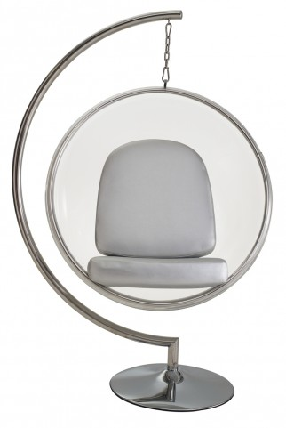 Ring Chair With Silver Pillows