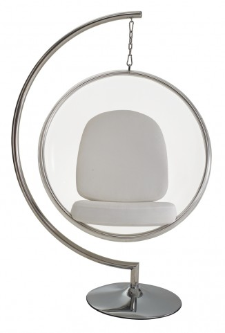 Ring Chair With White Pillows