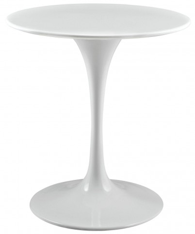 Lippa White 28 Inch Wood Top Dining Table