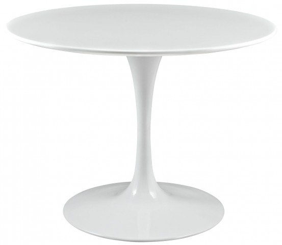 "Lippa White 40"" Wood Top Dining Table"