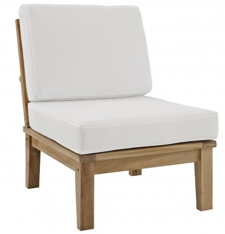 Marina Natural White Outdoor Patio Teak Middle Sofa