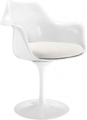 Lippa Arm Chair with White Cushion