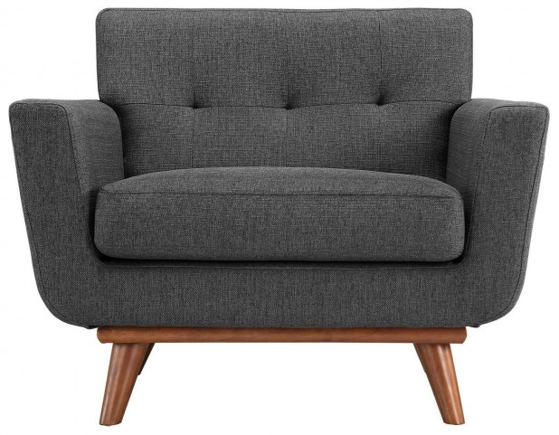 Engage Gray Upholstered Armchair