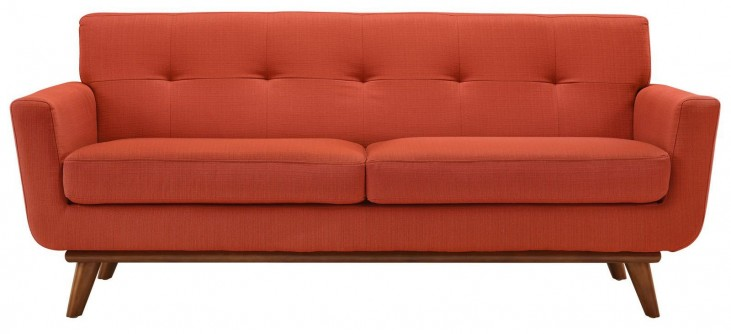 Engage Atomic Red Upholstered Loveseat