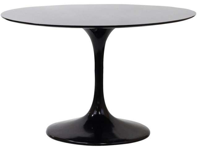 "Lippa Black 40"" Fiberglass Dining Table"