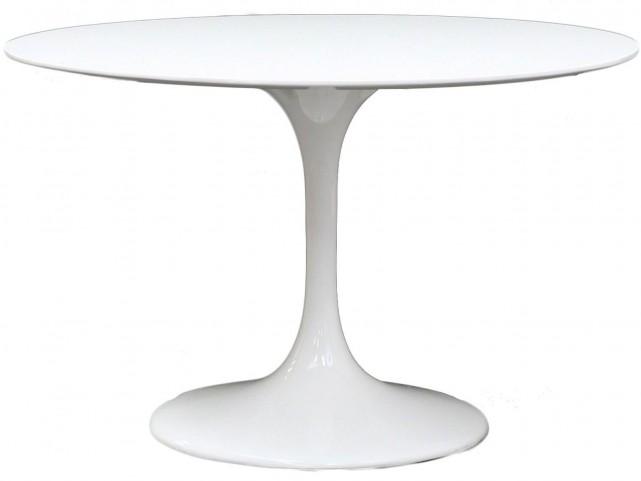 "Lippa White 40"" Fiberglass Dining Table"