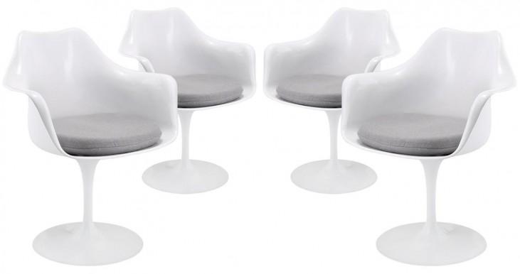 Lippa Gray Dining Armchair Set of 4