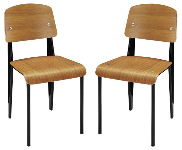 Cabin Walnut Dining Side Chair Set of 2