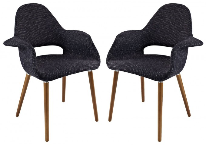 Taupe Black Dining Armchair Set of 2
