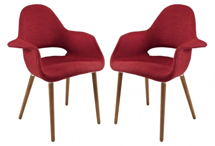 Taupe Red Dining Armchair Set of 2