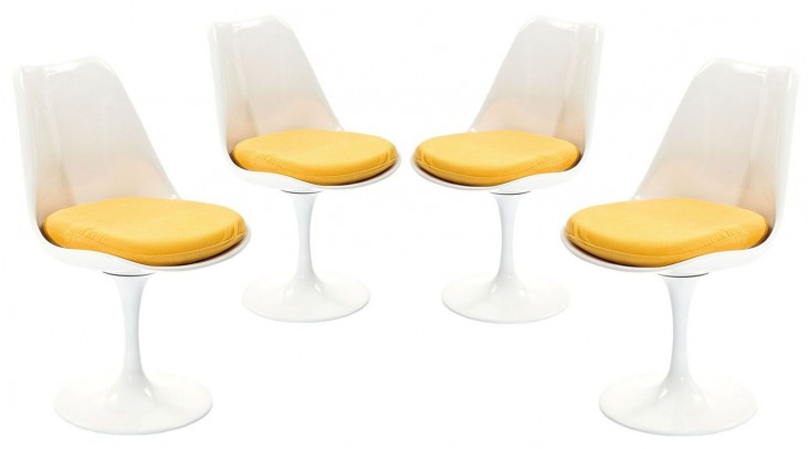 Lippa Yellow Dining Side Chair Set of 4