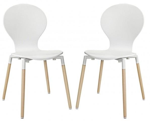 Path White Dining Chair Set of 2