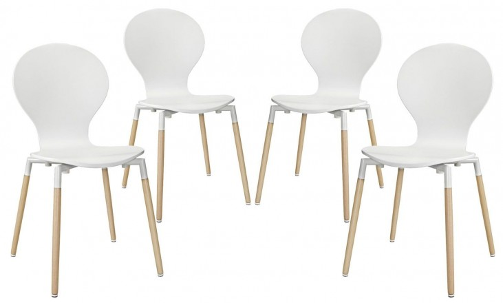 Path White Dining Chair Set of 4