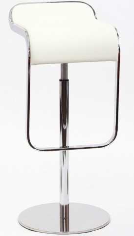 LEM Barstool in White Genuine Leather