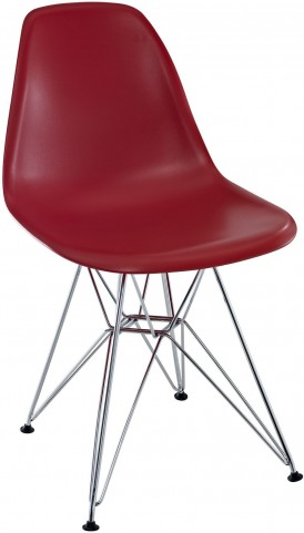 Paris Wire Side Chair in Red