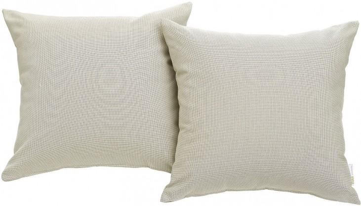 Convene Beige Two Piece Outdoor Patio Pillow Set