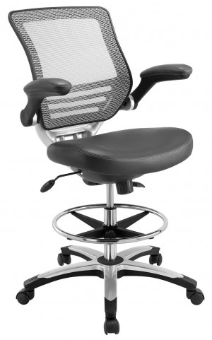 Edge Gray Drafting Chair