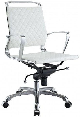 Vibe White Lowback Office Chair