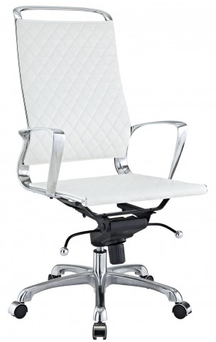 Vibe White Highback Office Chair