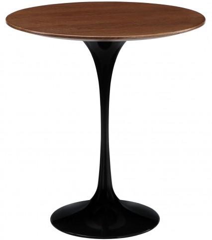 Lippa Black Wood Side Table