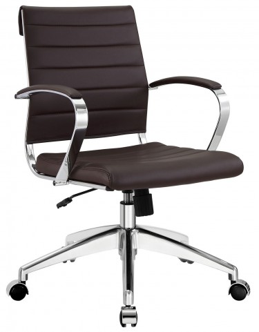 Jive Brown Mid Back Office Chair