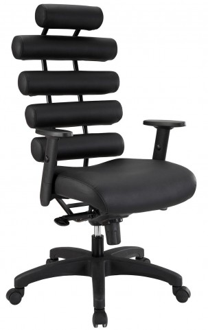 Pillow Black Office Chair