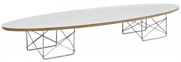Surfboard White Coffee Table