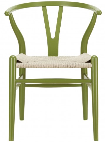 Amish Green Wood Armchair