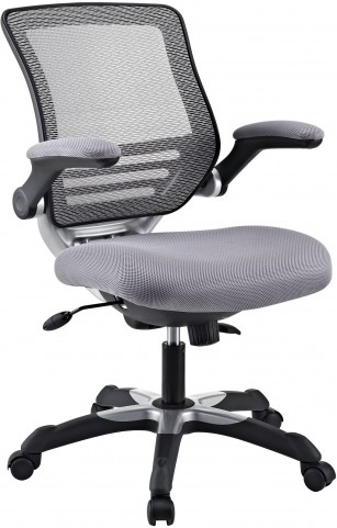 Edge Office Chair with Gray Mesh Fabric Seat