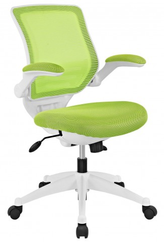 Edge Green White Base Office Chair