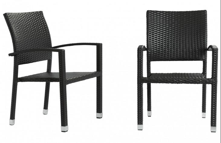 Bella Outdoor Rattan Dining Chairs in Espresso