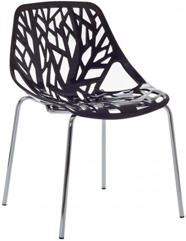 Stencil Chair in Black Plastic