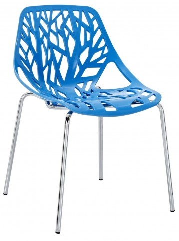 Stencil Blue Dining Side Chair