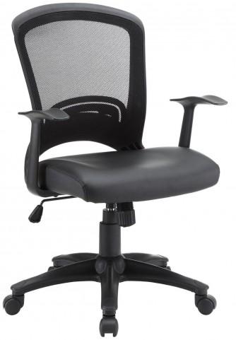 Pulse Black Vinyl Office Chair