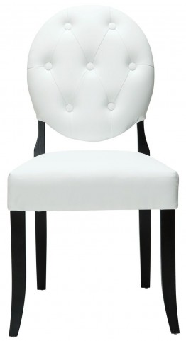 Button White Dining Side Chair