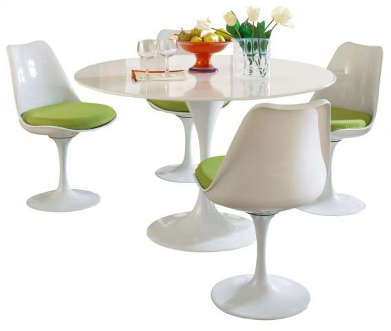 Lippa Green 5 Piece Fiberglass Dining Set