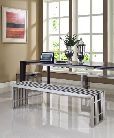 Gridiron Silver Benches Set of 3