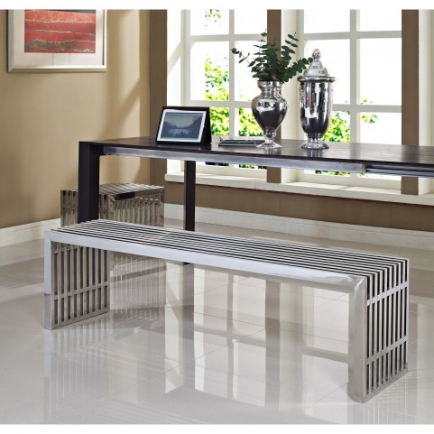 Gridiron Silver Benches Set of 2