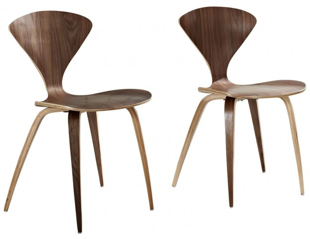 Vortex Dark Walnut Dining Chairs Set of 2