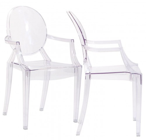 Casper Clear Dining Armchairs Set of 2