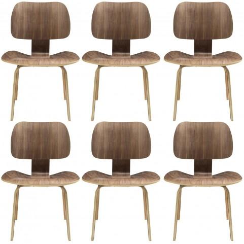 Fathom Walnut Dining Chairs Set of 6