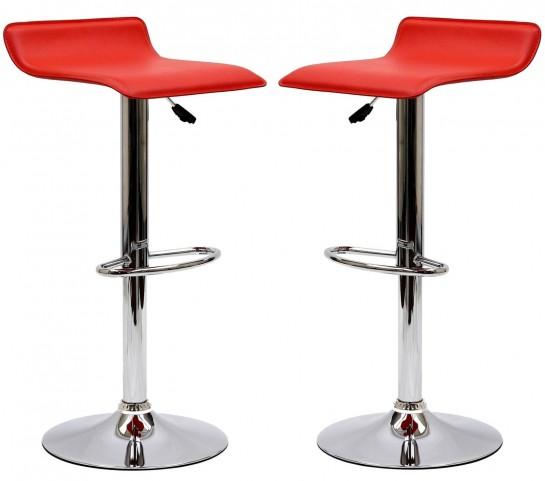 Gloria Red Bar Stool Set of 2
