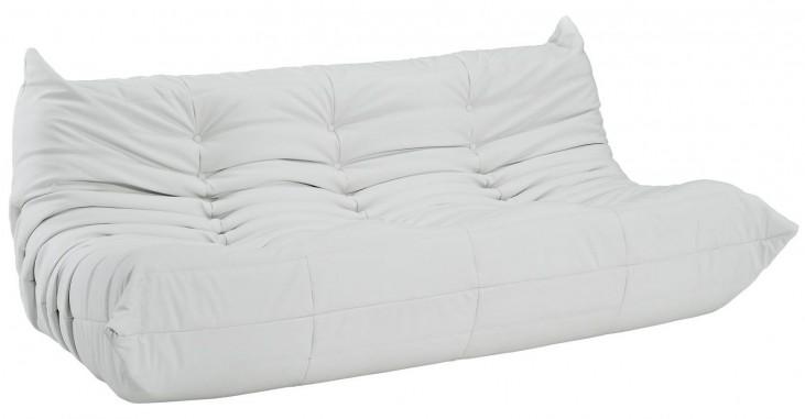Waverunner White Vinyl Sofa