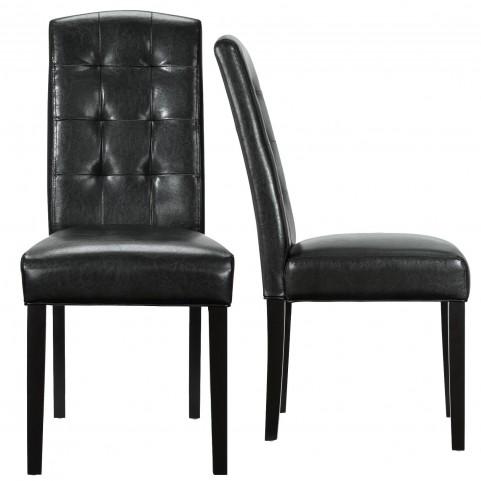 Perdure Black Dining Chairs Set of 2