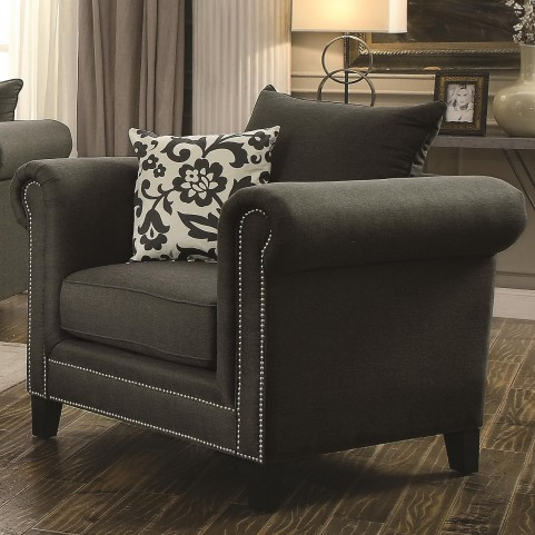 Emerson Charcoal Chair