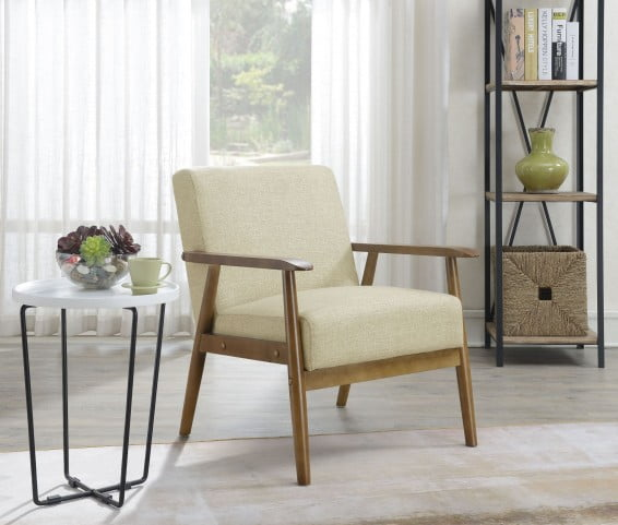 Astonishing Soft Beige Mid Century Modern Accent Chair Uwap Interior Chair Design Uwaporg