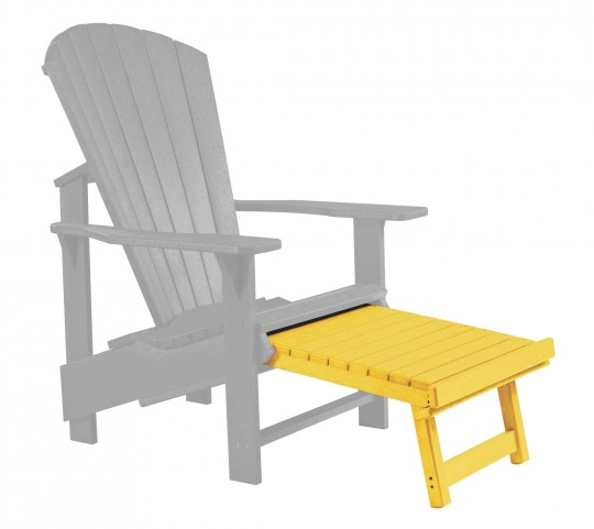 Generations Yellow Upright Adirondack Chair Pull Out Footstool