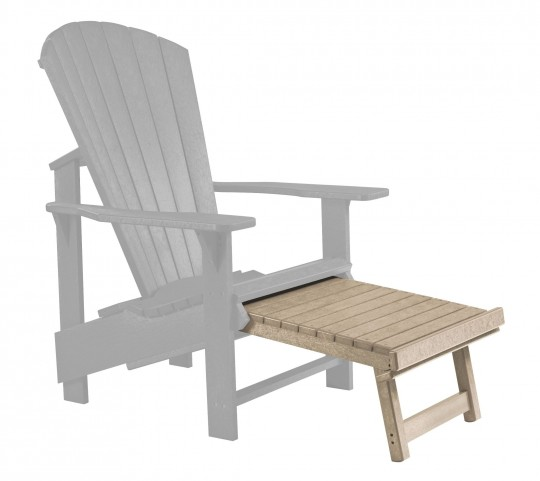 Generations Beige Upright Adirondack Chair Pull Out Footstool